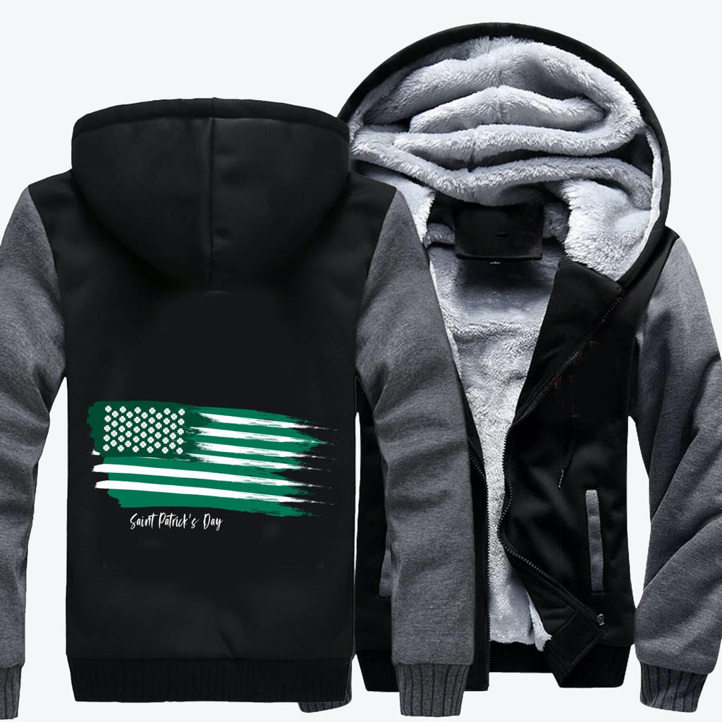 American Flag, Saint Patrick's Day Fleece Jacket