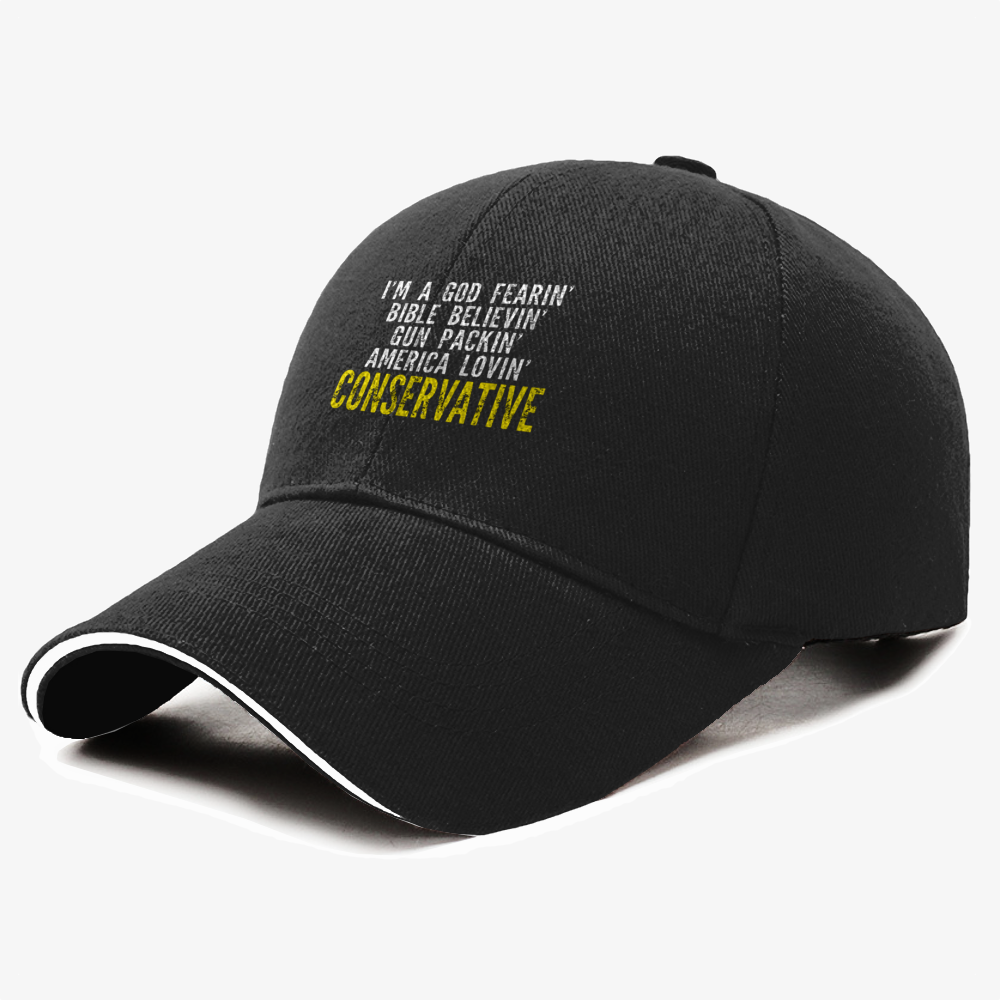 Good Fearin Bible Believin Conservative , Conservative Baseball Cap