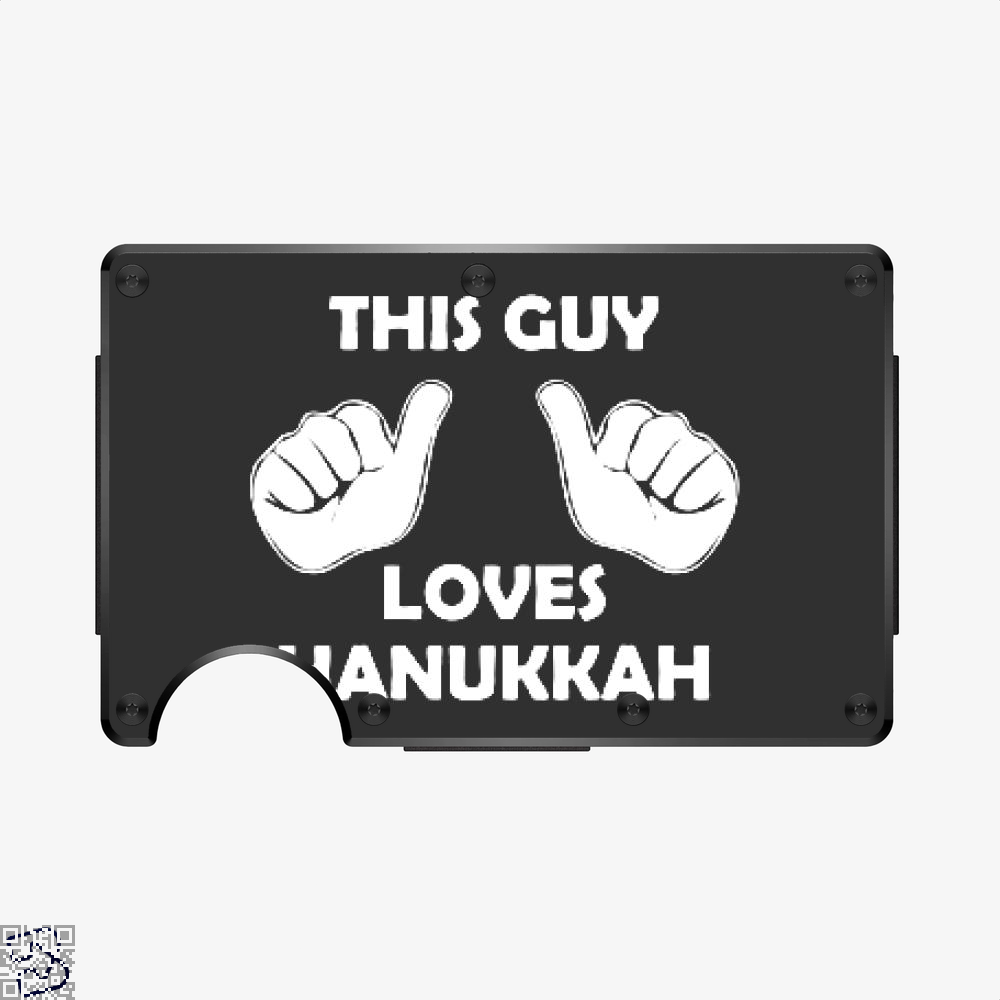 This Guy Loves Hanukkah, Deadpan Aluminum Wallet