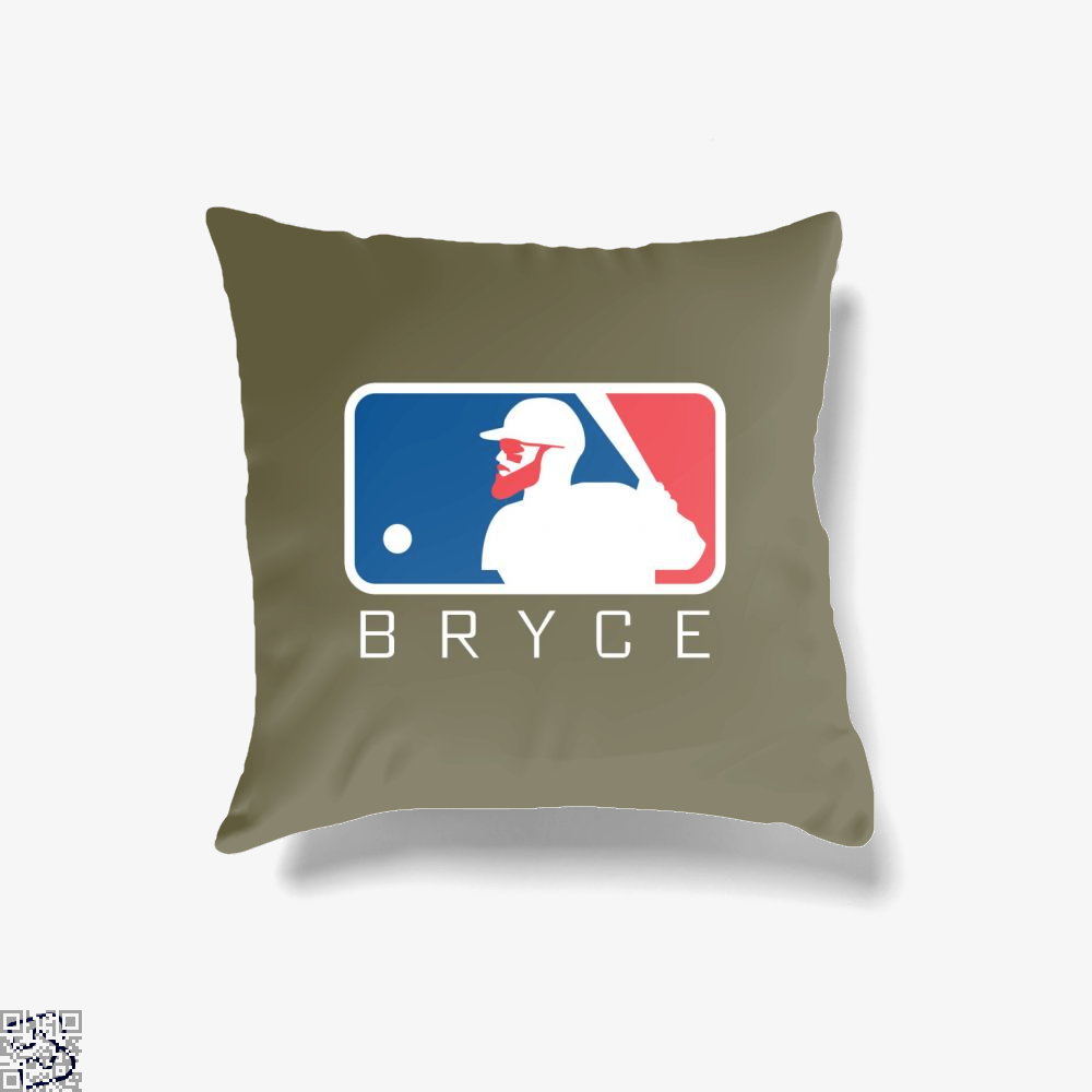 Ml Bryce, Bryce Harper Throw Pillow Cover