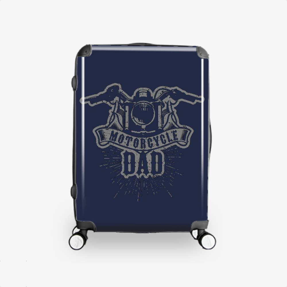 Motorcycle Dad, Family Love Hardside Luggage