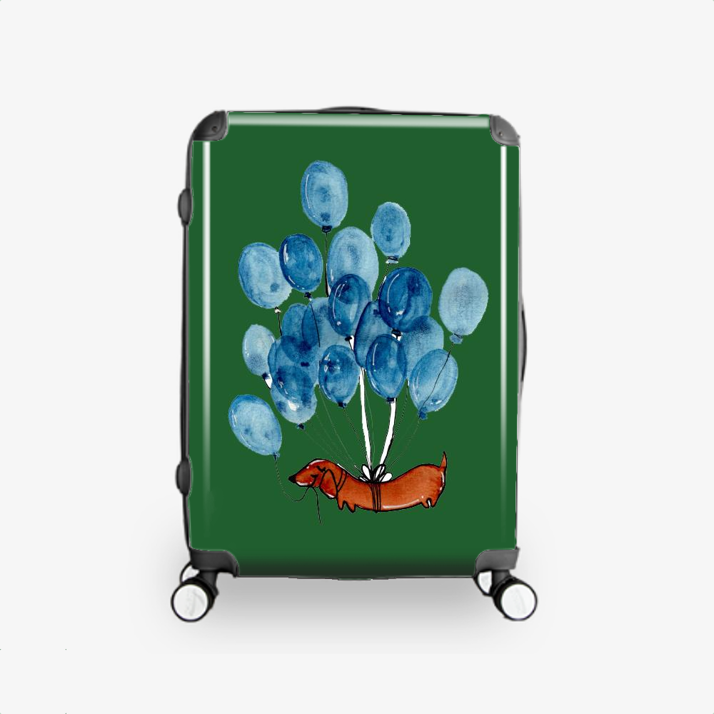 Dachshund And Balloons, Dachshund Hardside Luggage