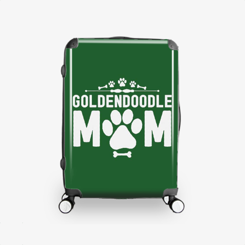 Goldendoodle Mom, Family Love Hardside Luggage