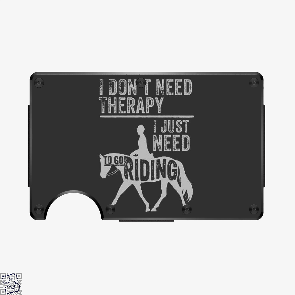 Horse Riding Therapy, Anecdotal Aluminum Wallet
