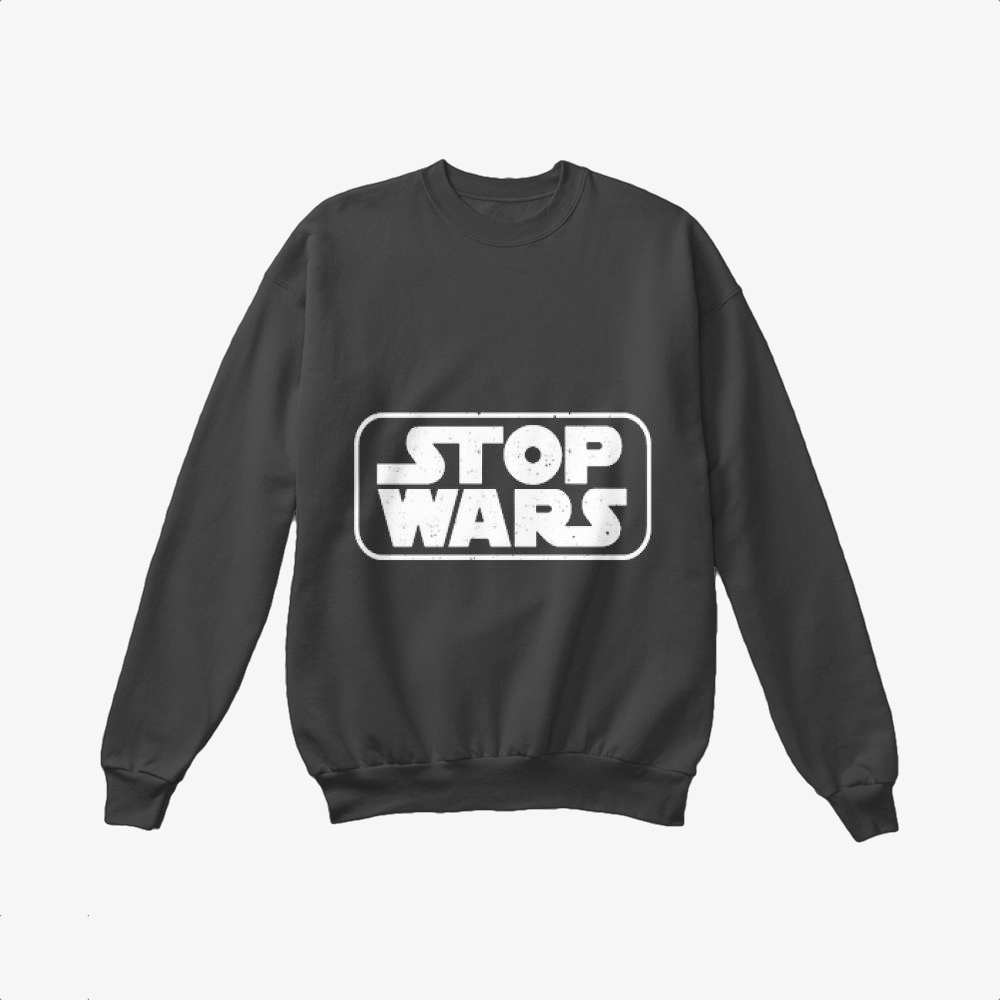 Stop Wars, Philadelphia Football Fans Crewneck Sweatshirt