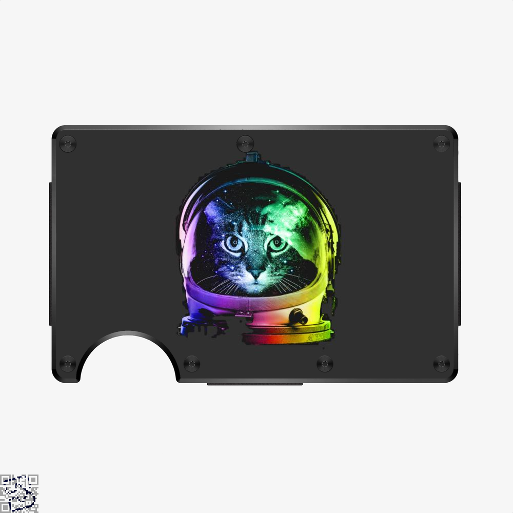 Space Cat, Cat Aluminum Wallet