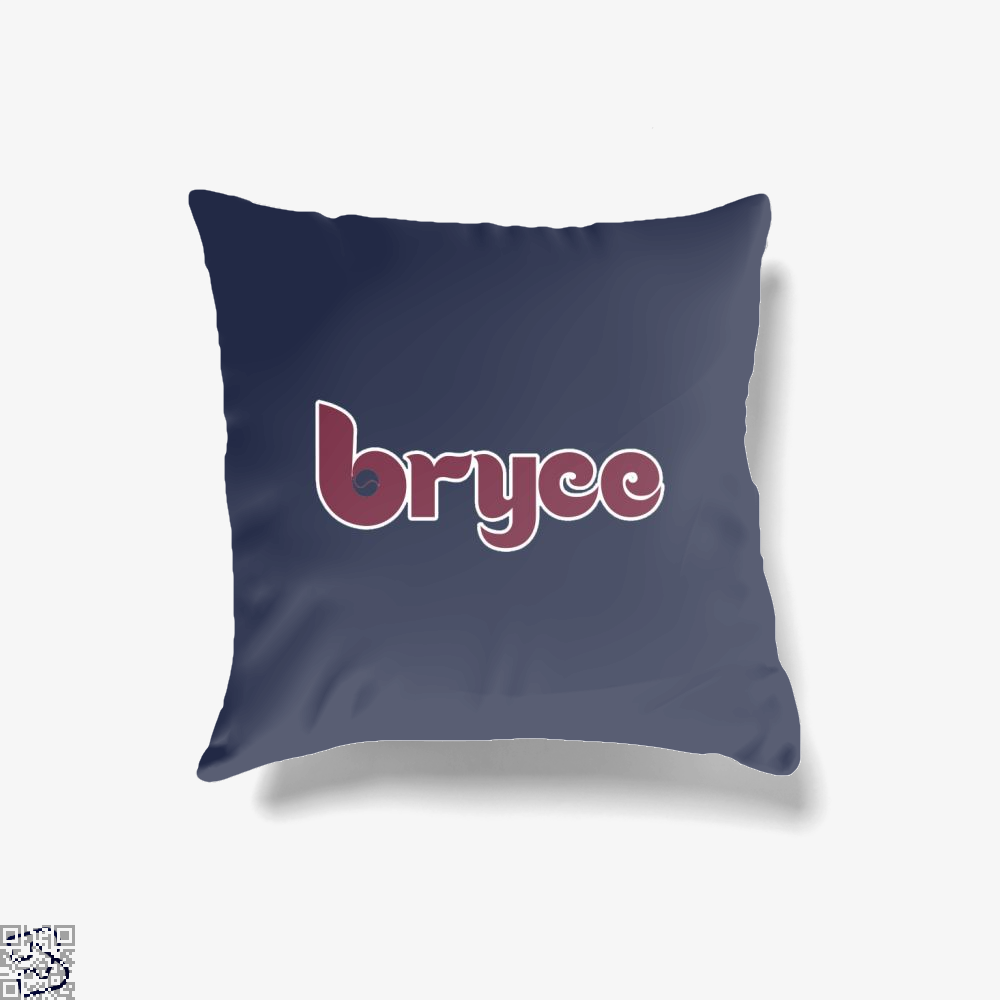Bryce Phillies 80s, Bryce Harper Throw Pillow Cover