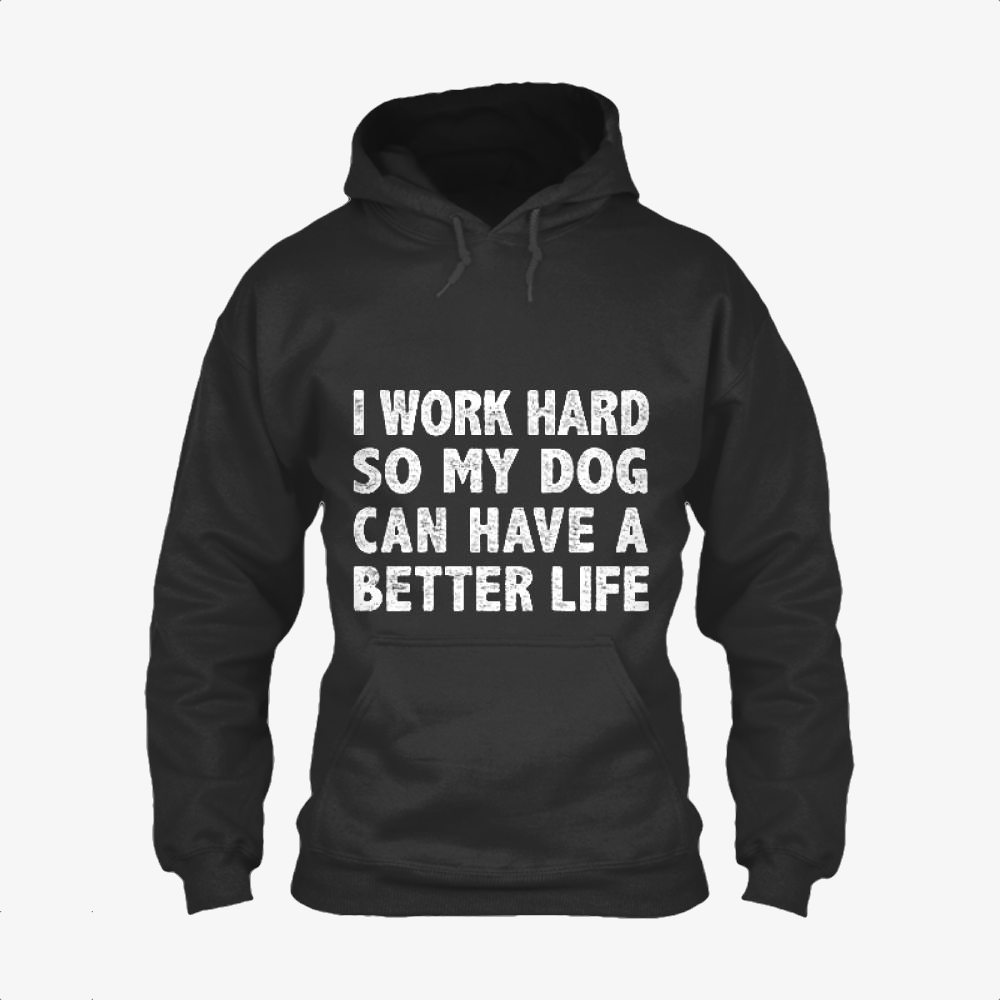 I Work Hard So My God Can Have A Better Life, Dark Humor Classic Hoodie