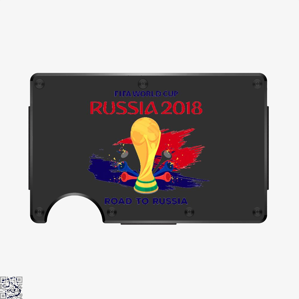 Road To Russia World Cup 2018, Fifa World Cup Aluminum Wallet