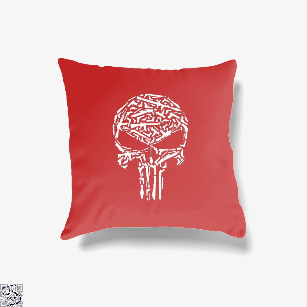 Punisher Skull, Punisher Throw Pillow Cover