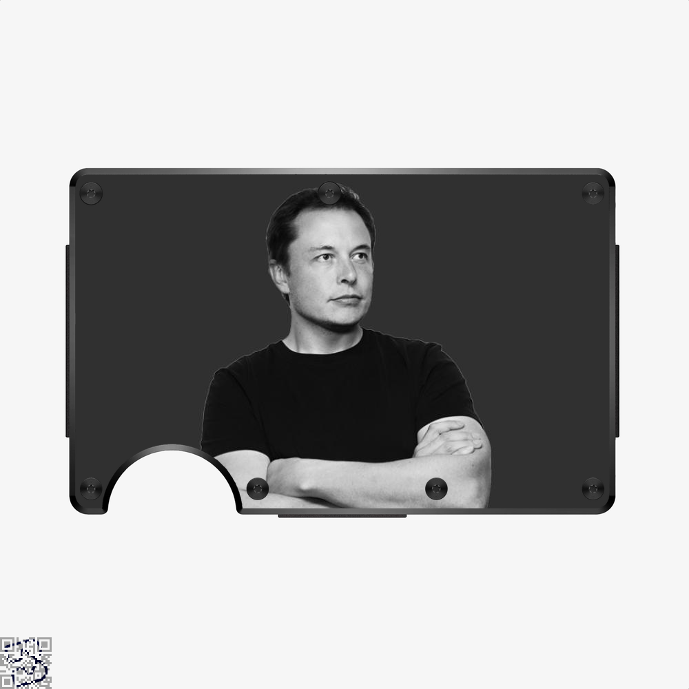 Musk Crossed Arms, Elon Musk Aluminum Wallet