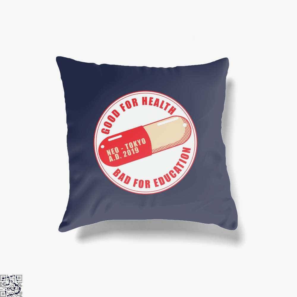 Akira Capsule, Akira (1988 Film) Throw Pillow Cover