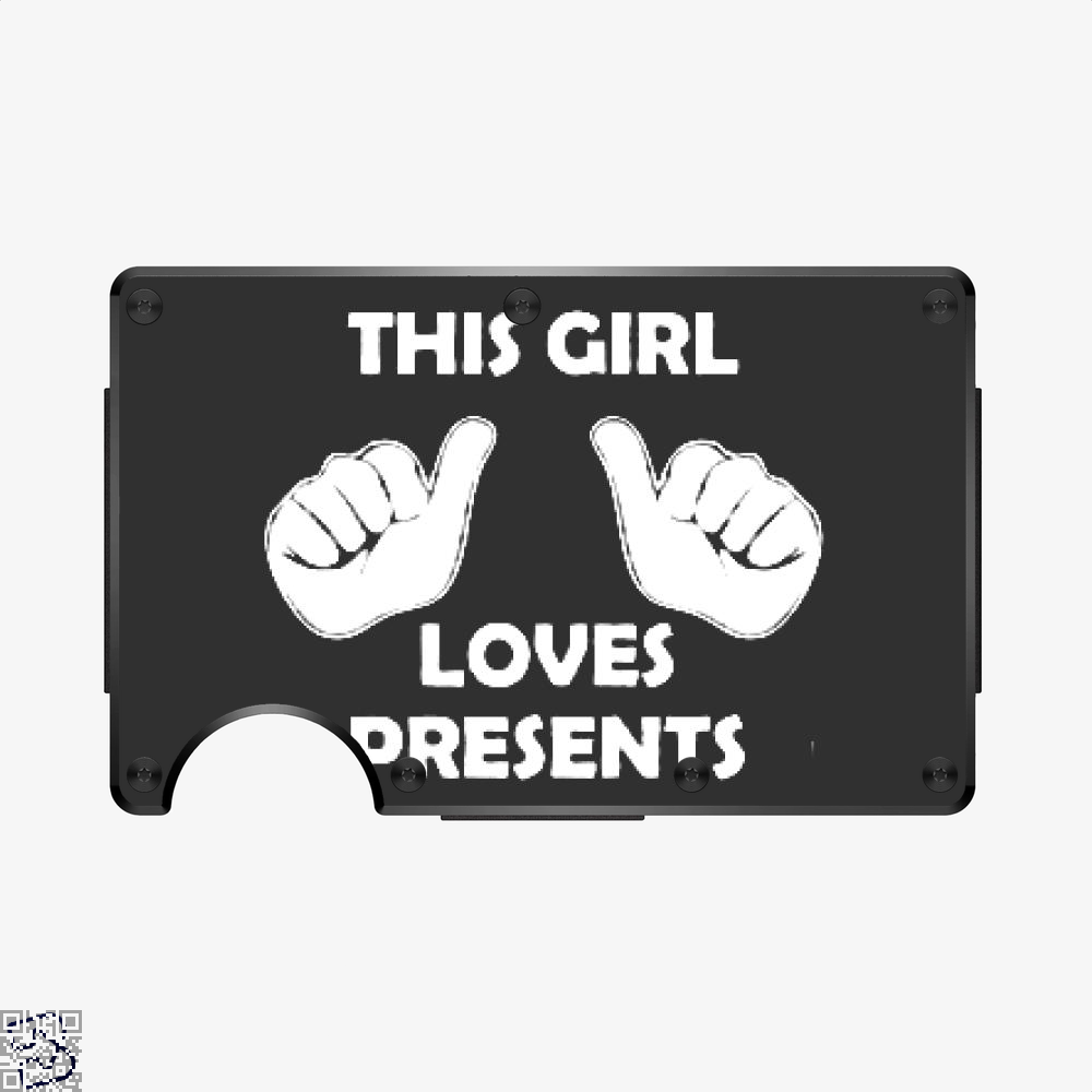 This Girl Loves Presents, Deadpan Aluminum Wallet