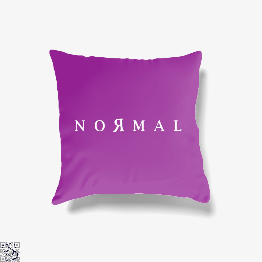 Normal, Anti-establishment Throw Pillow Cover