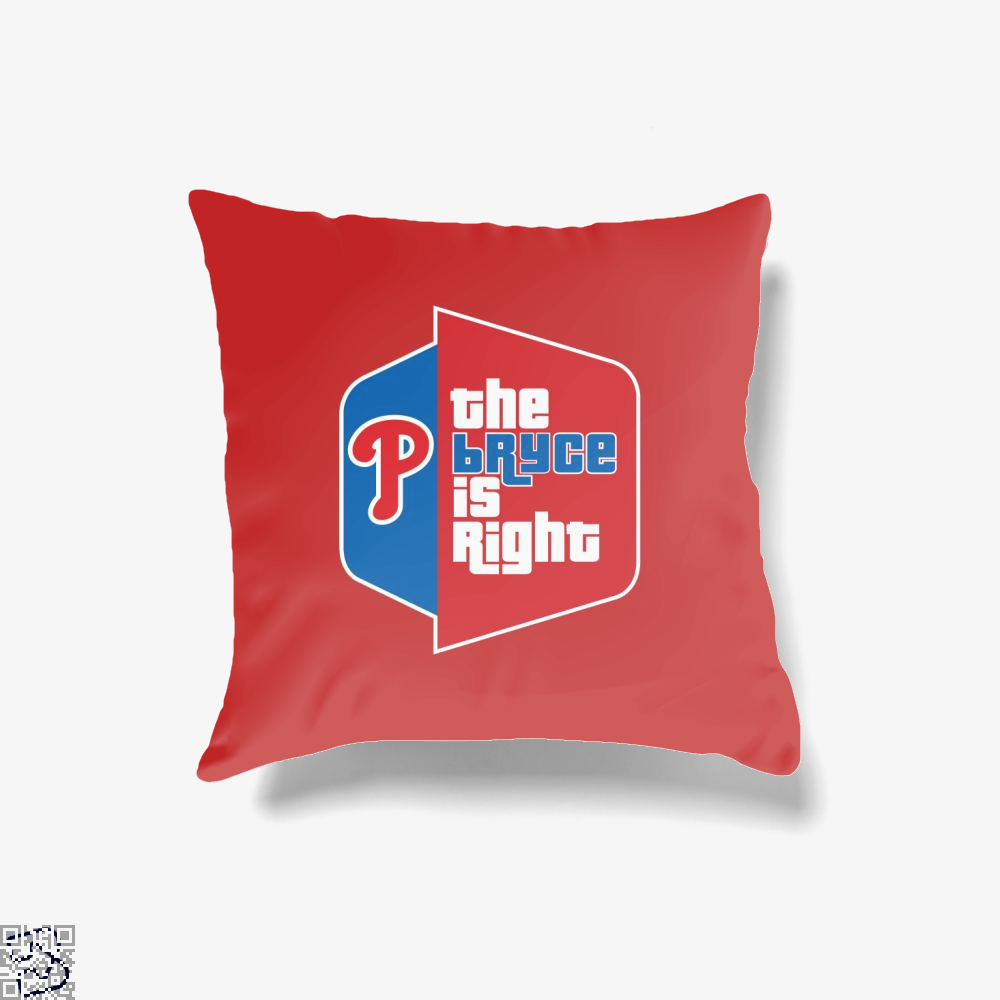 The Bryce Is Right, Bryce Harper Throw Pillow Cover