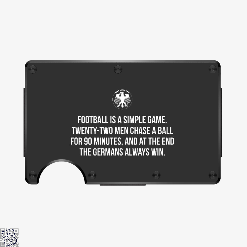 Germany Football Quote, Fifa World Cup Aluminum Wallet