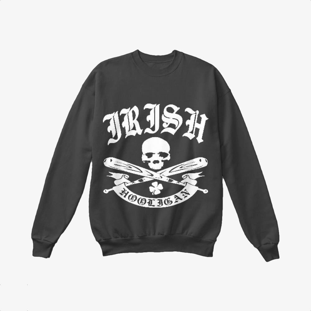 Hooligan, Irish Clover Crewneck Sweatshirt