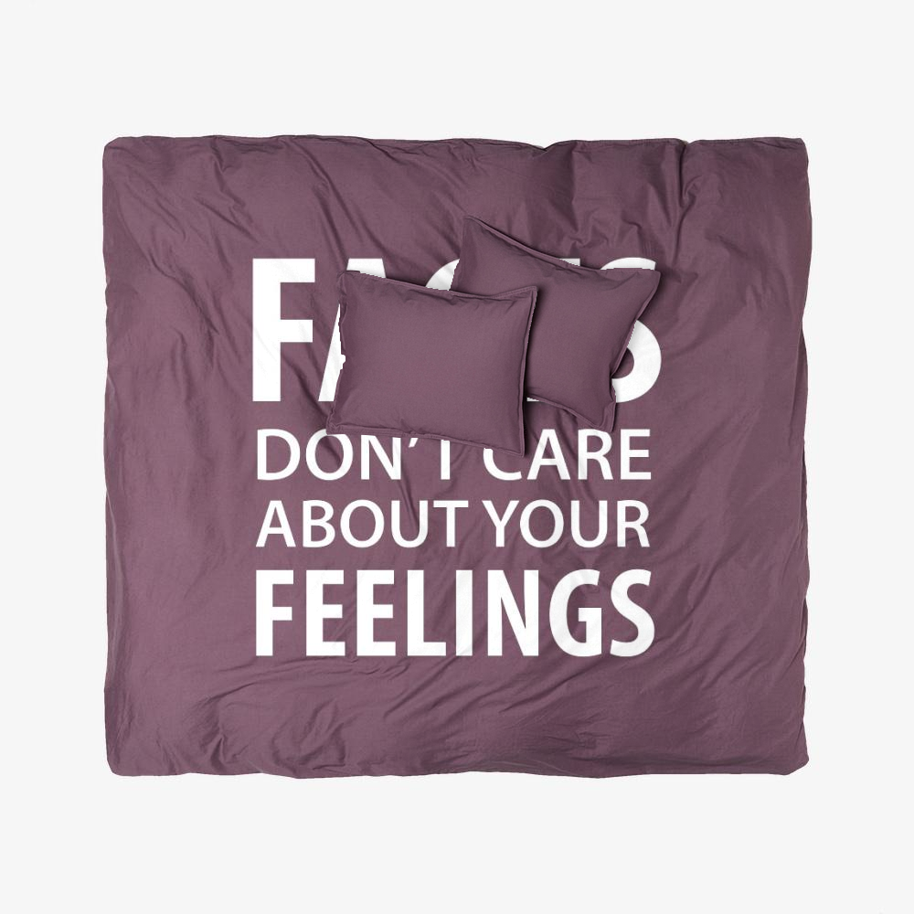 Facts Feelings, Conservative Duvet Cover Set
