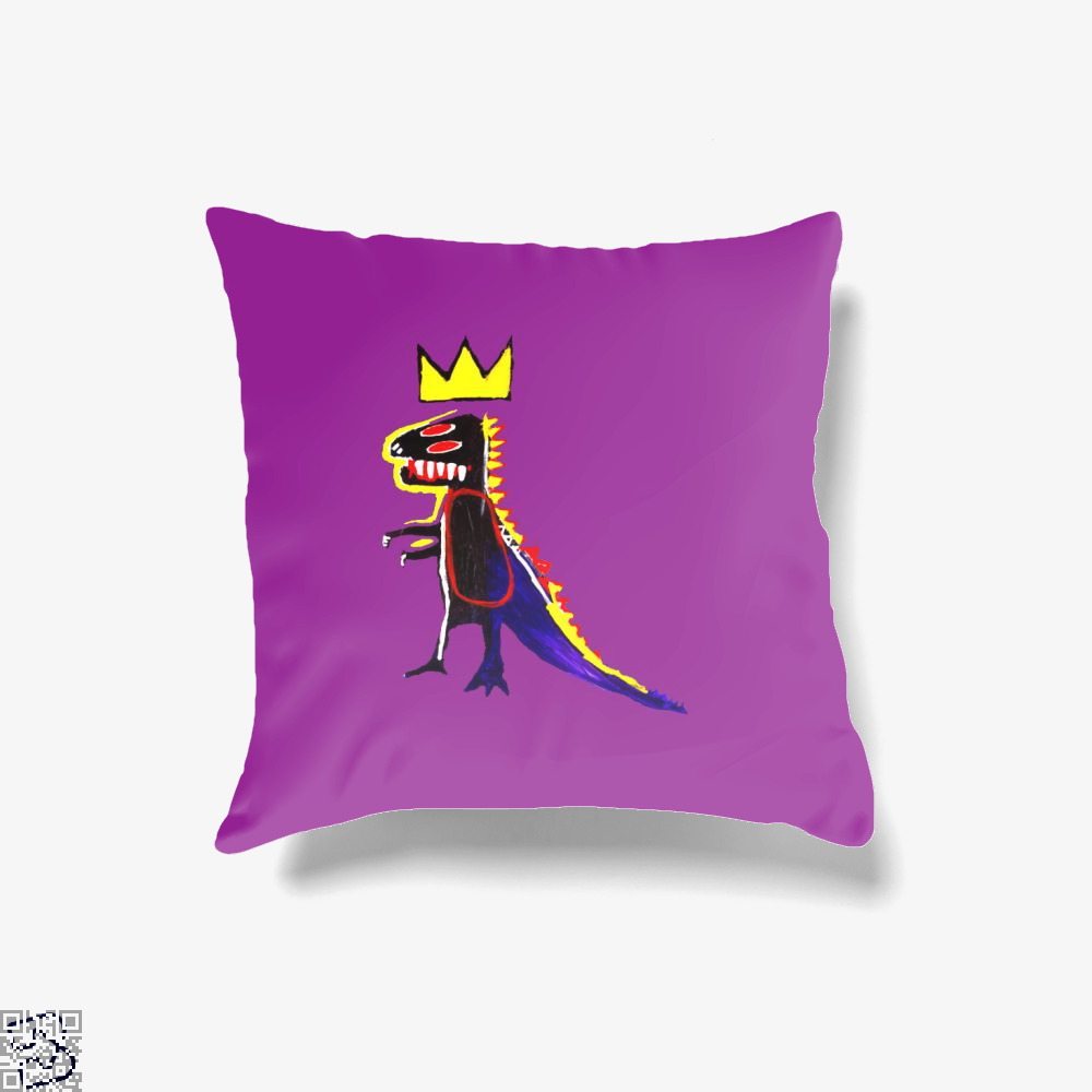 Basquiat Dinosaur King, Jean-michel Basquiat Throw Pillow Cover