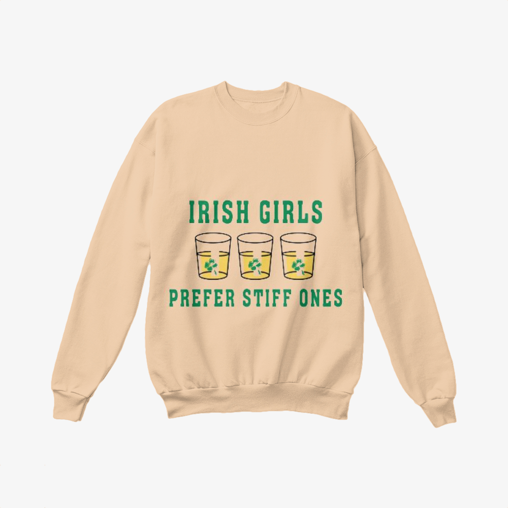 Girls, Irish Clover Crewneck Sweatshirt