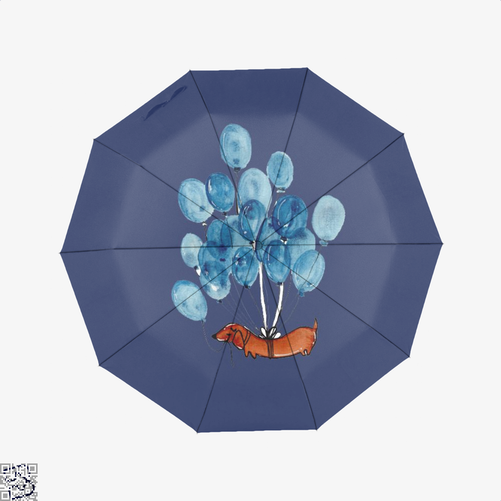 Dachshund And Balloons, Dachshund Classic Umbrella