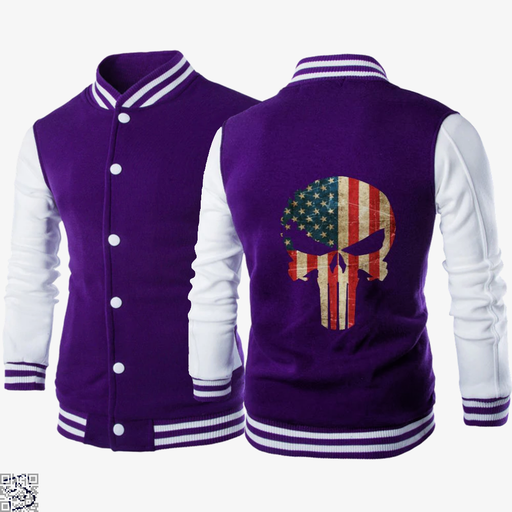 Us, Punisher Letterman Jacket