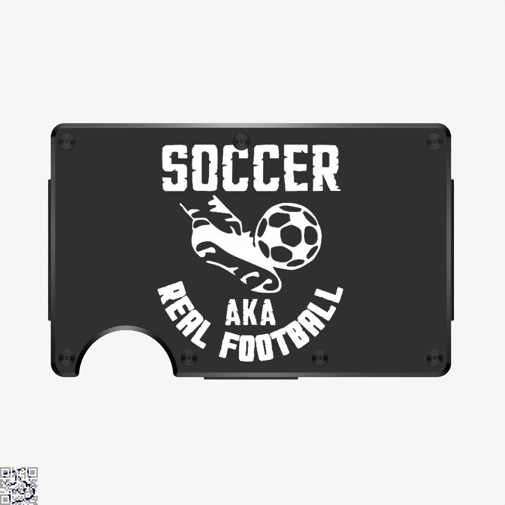 Soccer Aka Real Football, Fifa World Cup Aluminum Wallet