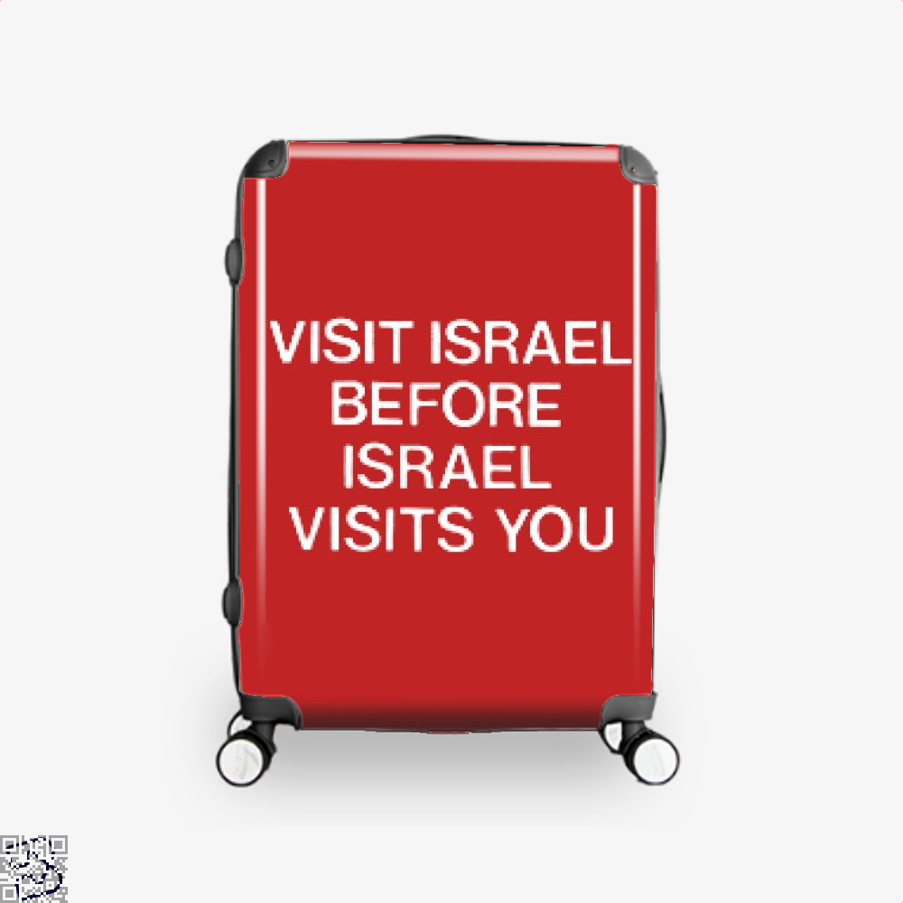 Visit Israel Deadpan Suitcase - Red / 16 - Productgenjpg
