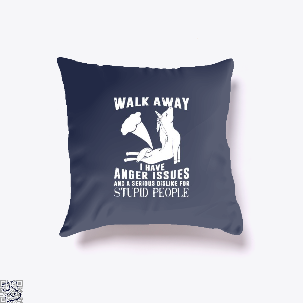 Walk Away Fathers Day Throw Pillow Cover - Blue / 16 X - Productgenjpg
