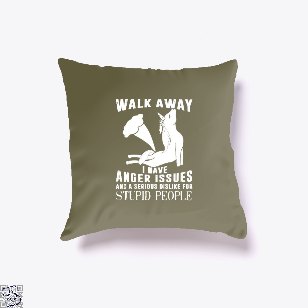 Walk Away Fathers Day Throw Pillow Cover - Brown / 16 X - Productgenjpg