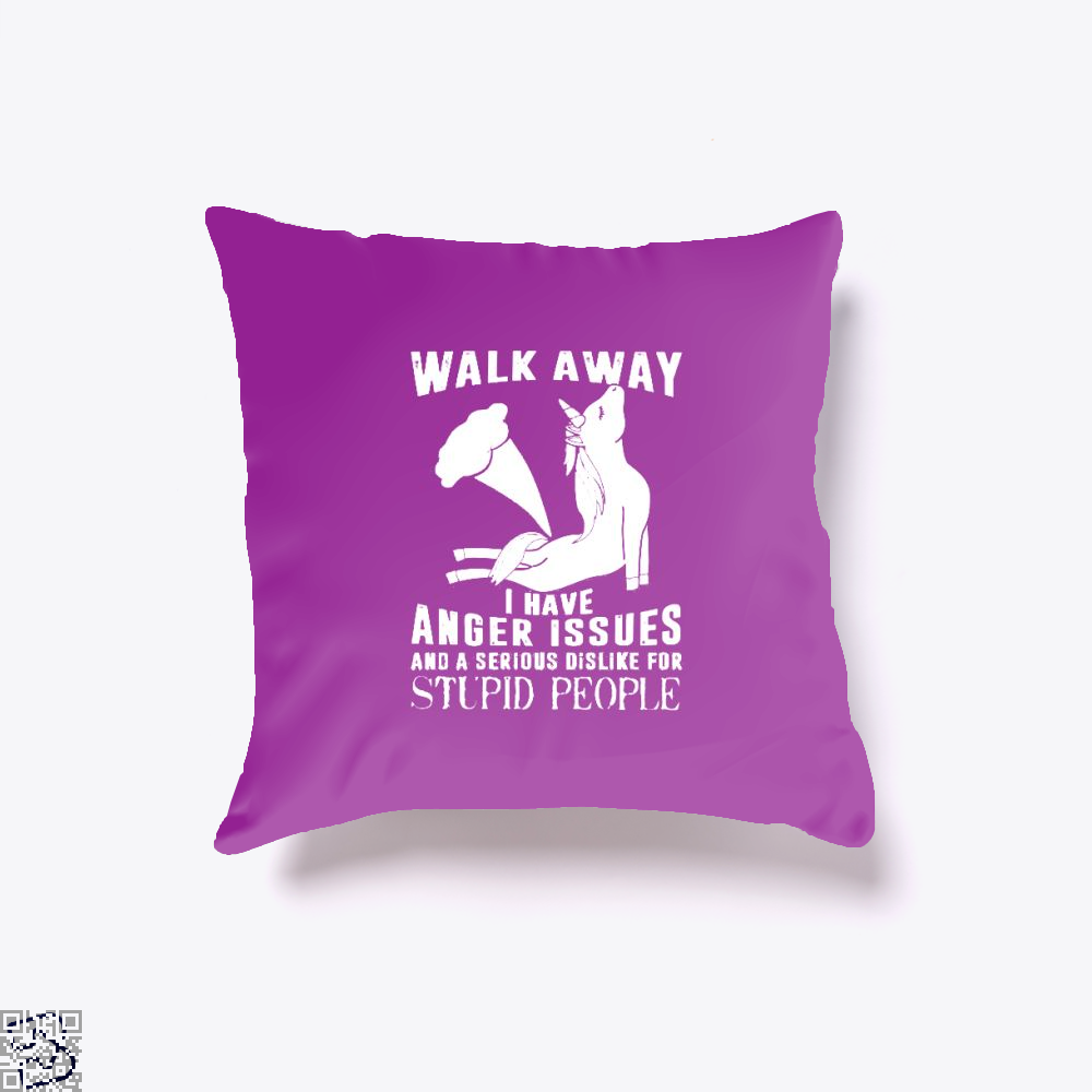 Walk Away Fathers Day Throw Pillow Cover - Purple / 16 X - Productgenjpg