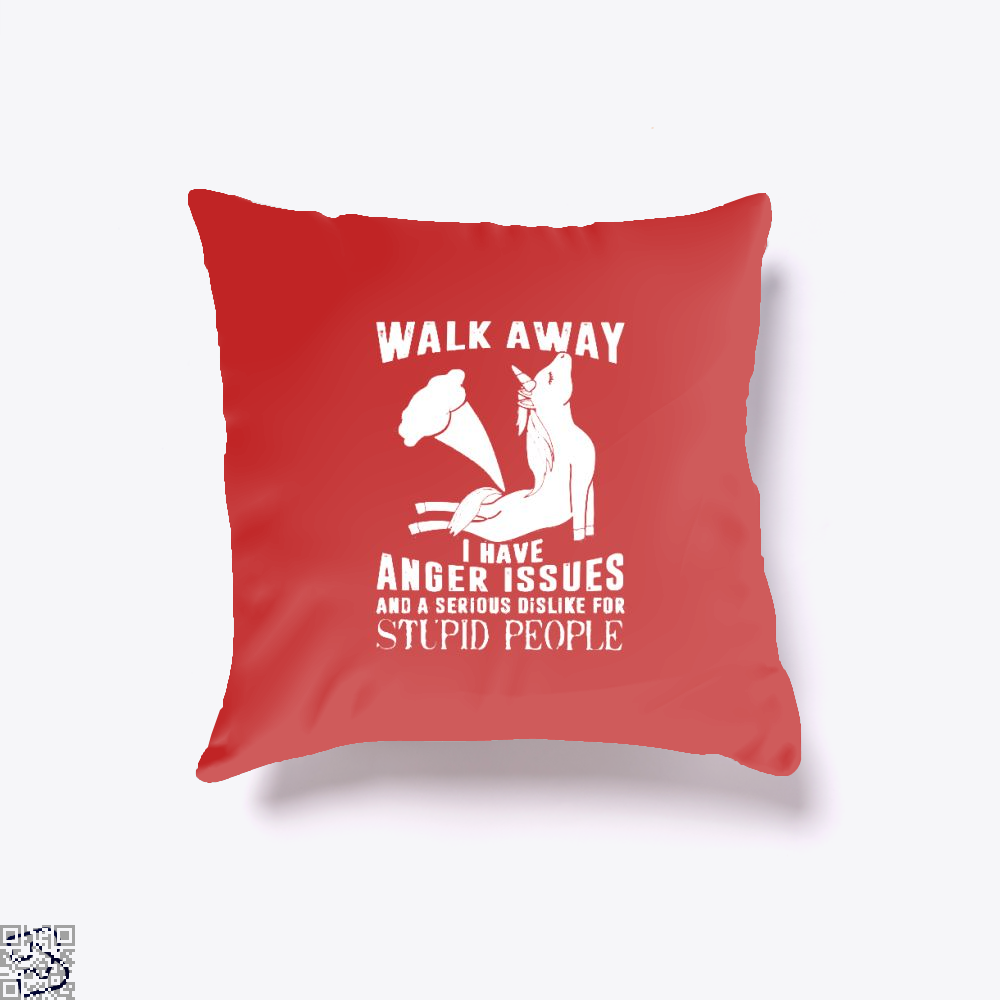Walk Away Fathers Day Throw Pillow Cover - Red / 16 X - Productgenjpg