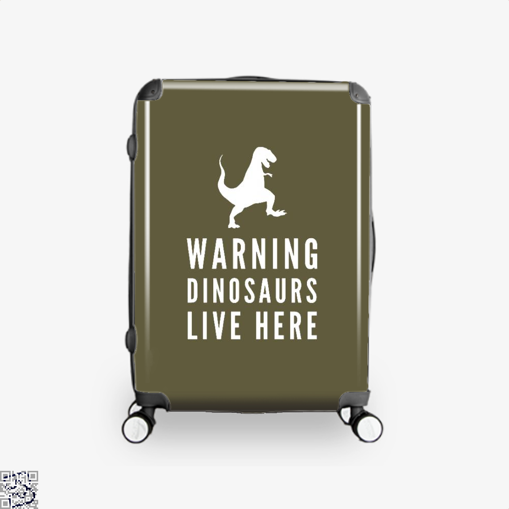 Warning Dinosaurs Live Here Jurassic World Suitcase - Brown / 16 - Productgenapi