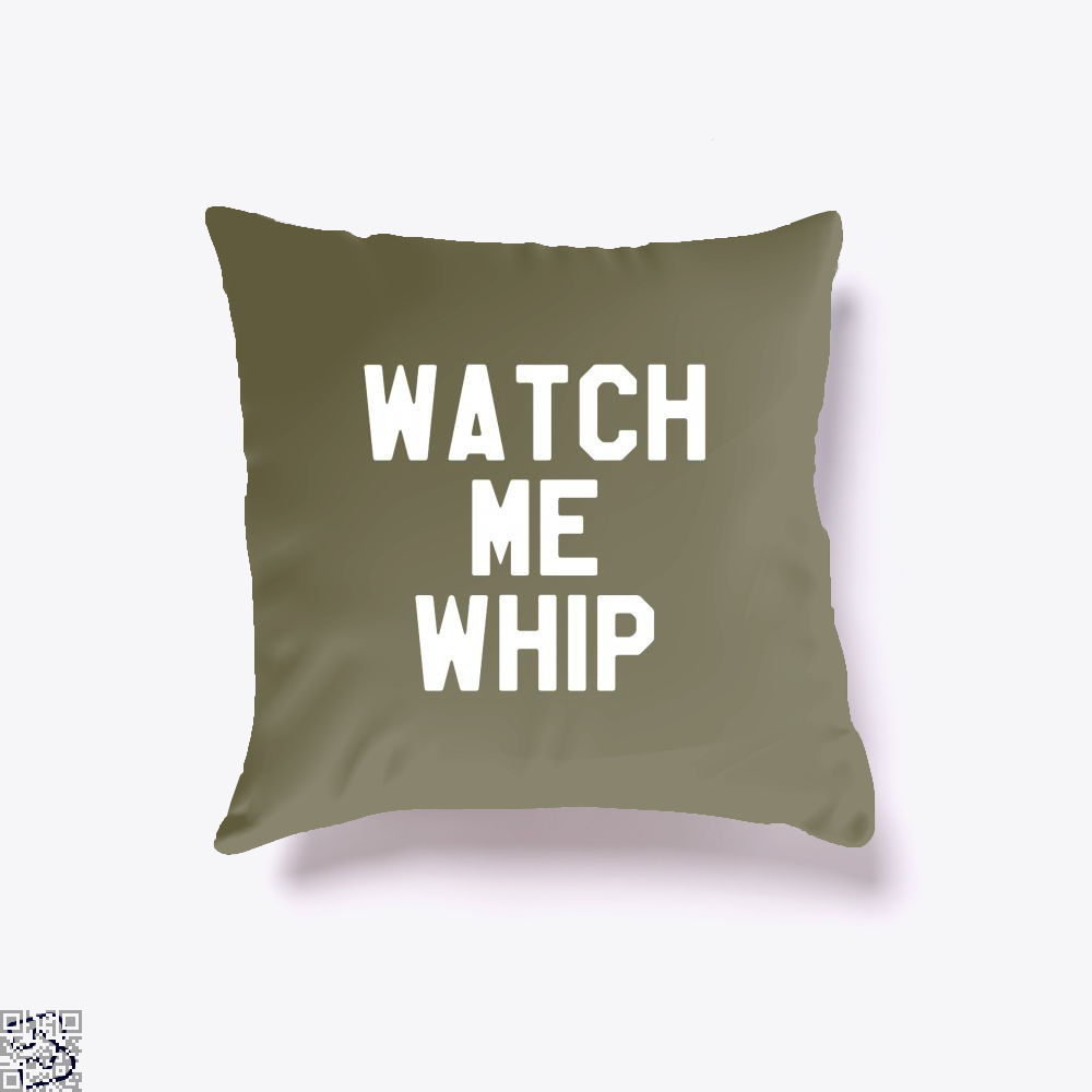 Watch Me Whip Chefs Throw Pillow Cover - Brown / 16 X - Productgenapi