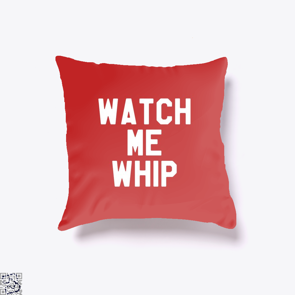 Watch Me Whip Chefs Throw Pillow Cover - Red / 16 X - Productgenapi