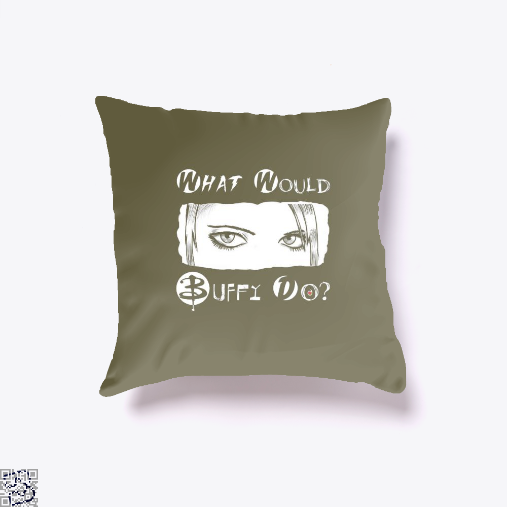 What Would Buffy Do The Vampire Slayer Throw Pillow Cover - Brown / 16 X - Productgenjpg