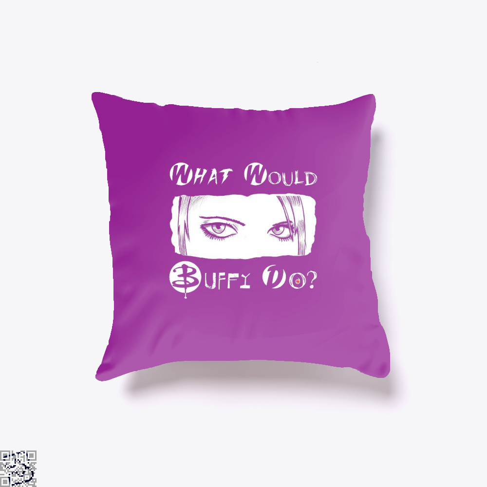 What Would Buffy Do The Vampire Slayer Throw Pillow Cover - Purple / 16 X - Productgenjpg