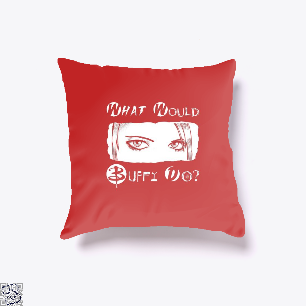 What Would Buffy Do The Vampire Slayer Throw Pillow Cover - Red / 16 X - Productgenjpg