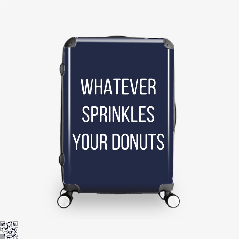 Whatever Sprinkes Your Donuts Doughnuts Suitcase - Blue / 16 - Productgenapi