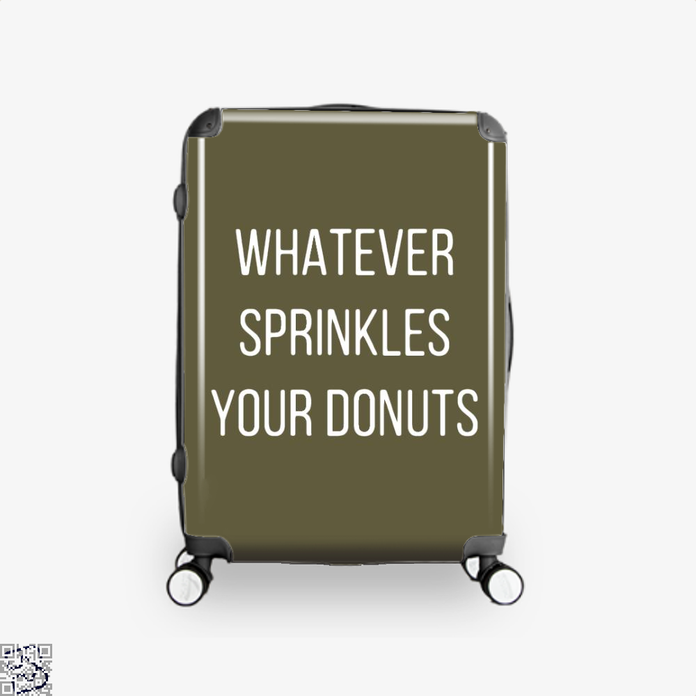 Whatever Sprinkes Your Donuts Doughnuts Suitcase - Brown / 16 - Productgenapi