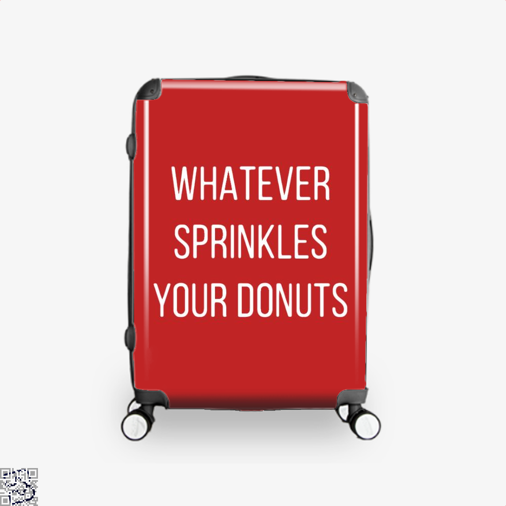 Whatever Sprinkes Your Donuts Doughnuts Suitcase - Red / 16 - Productgenapi