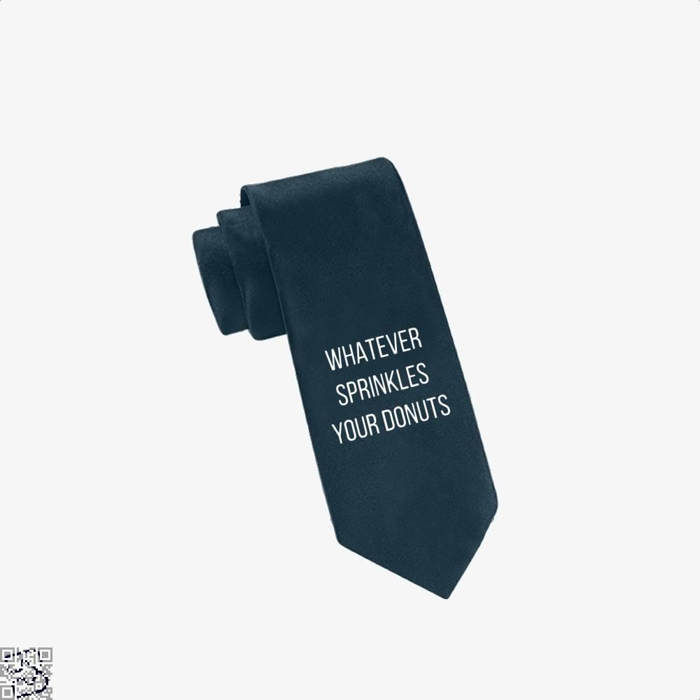 Whatever Sprinkes Your Donuts Doughnuts Tie - Navy - Productgenapi