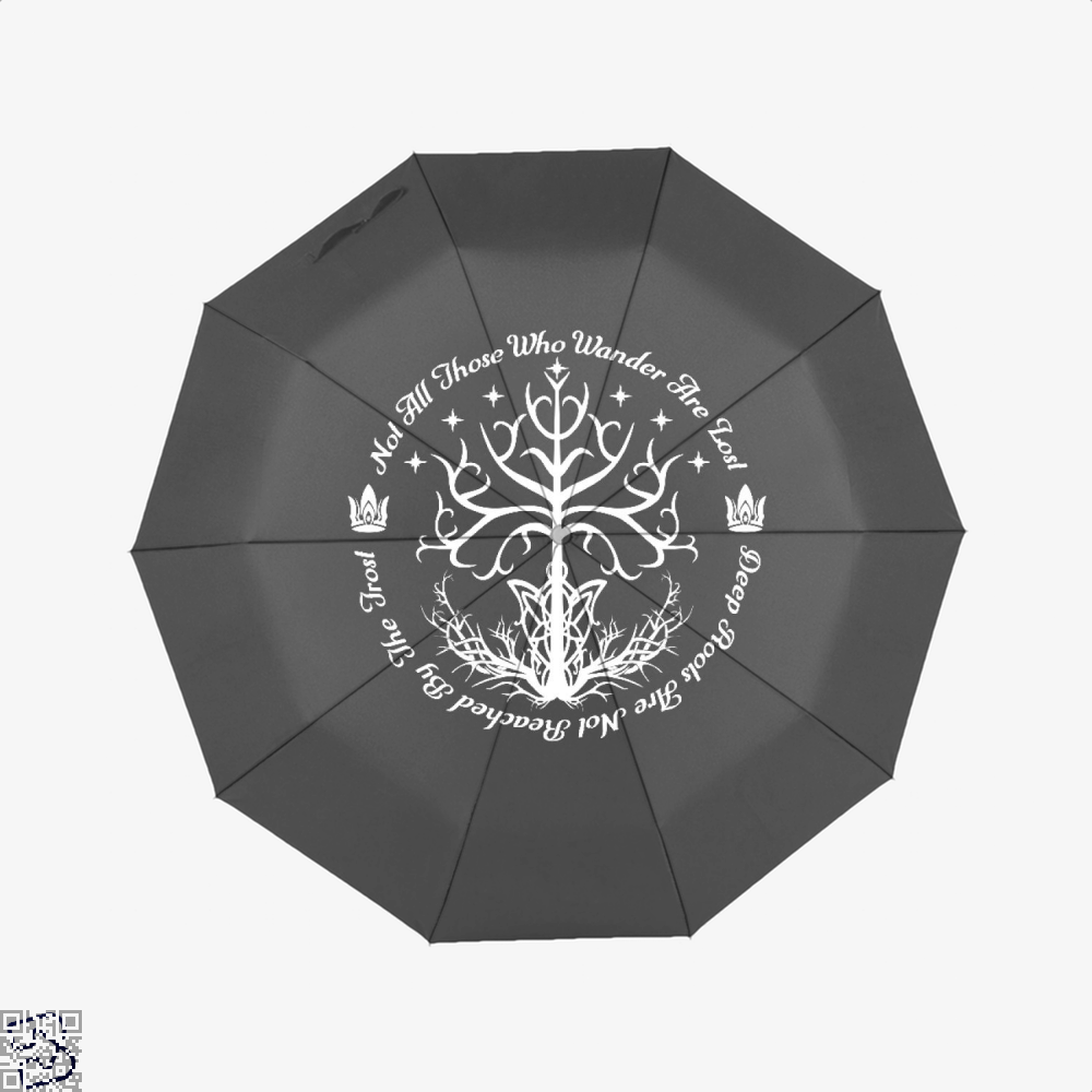 White Tree Of Hope Lord The Rings Umbrella - Black - Productgenjpg