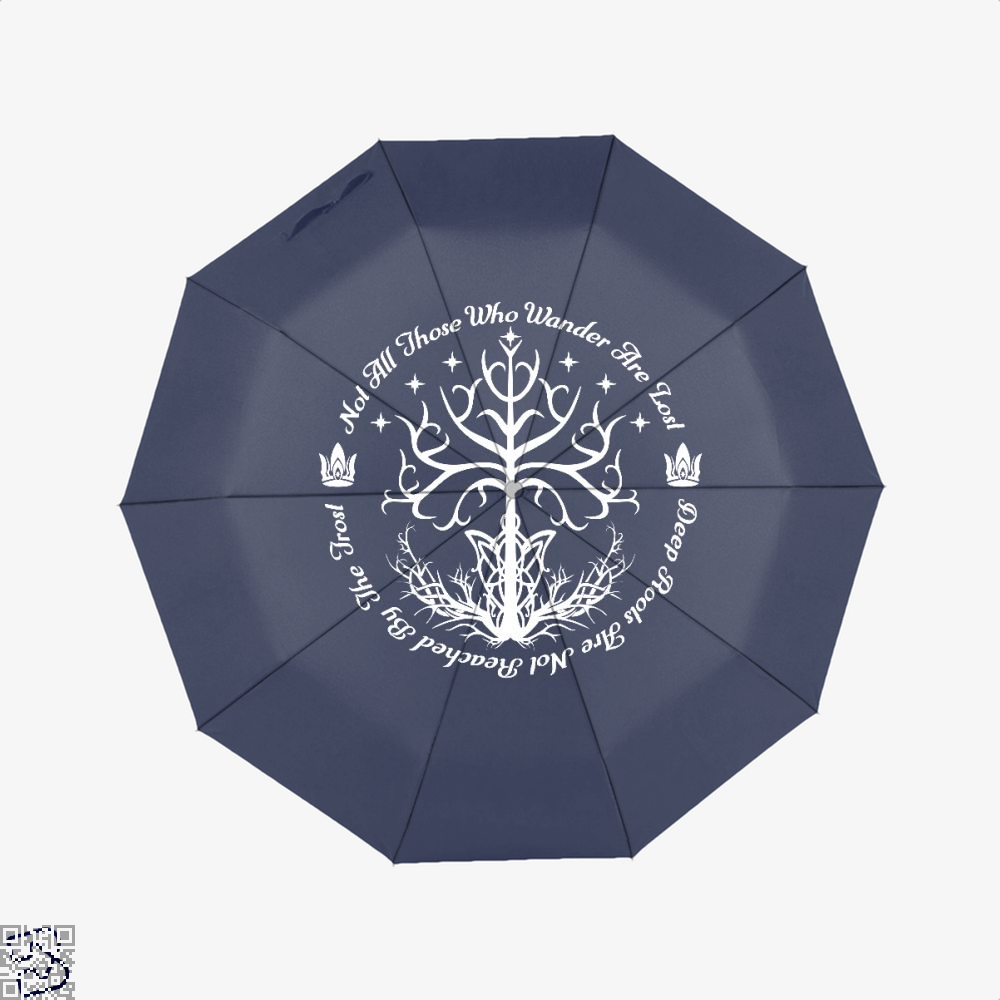 White Tree Of Hope Lord The Rings Umbrella - Blue - Productgenjpg