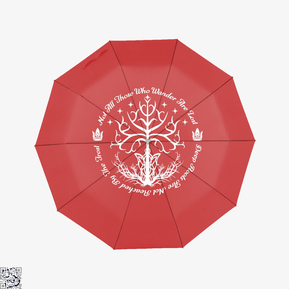 White Tree Of Hope Lord The Rings Umbrella - Red - Productgenjpg