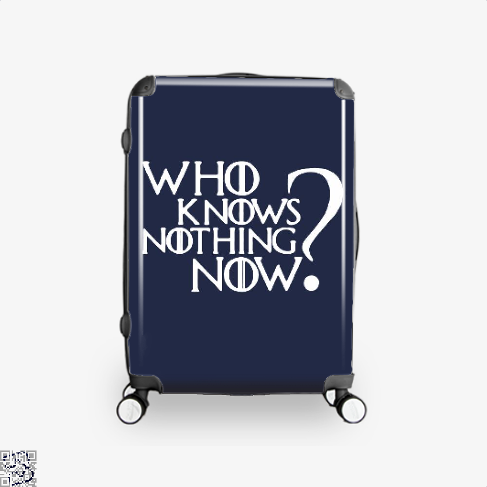 Who Knows Nothing Now Game Of Thrones Suitcase - Blue / 16 - Productgenjpg