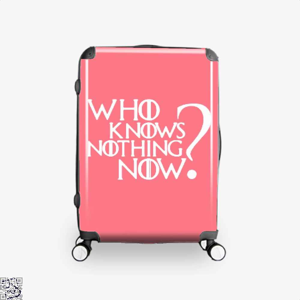 Who Knows Nothing Now Game Of Thrones Suitcase - Pink / 16 - Productgenjpg