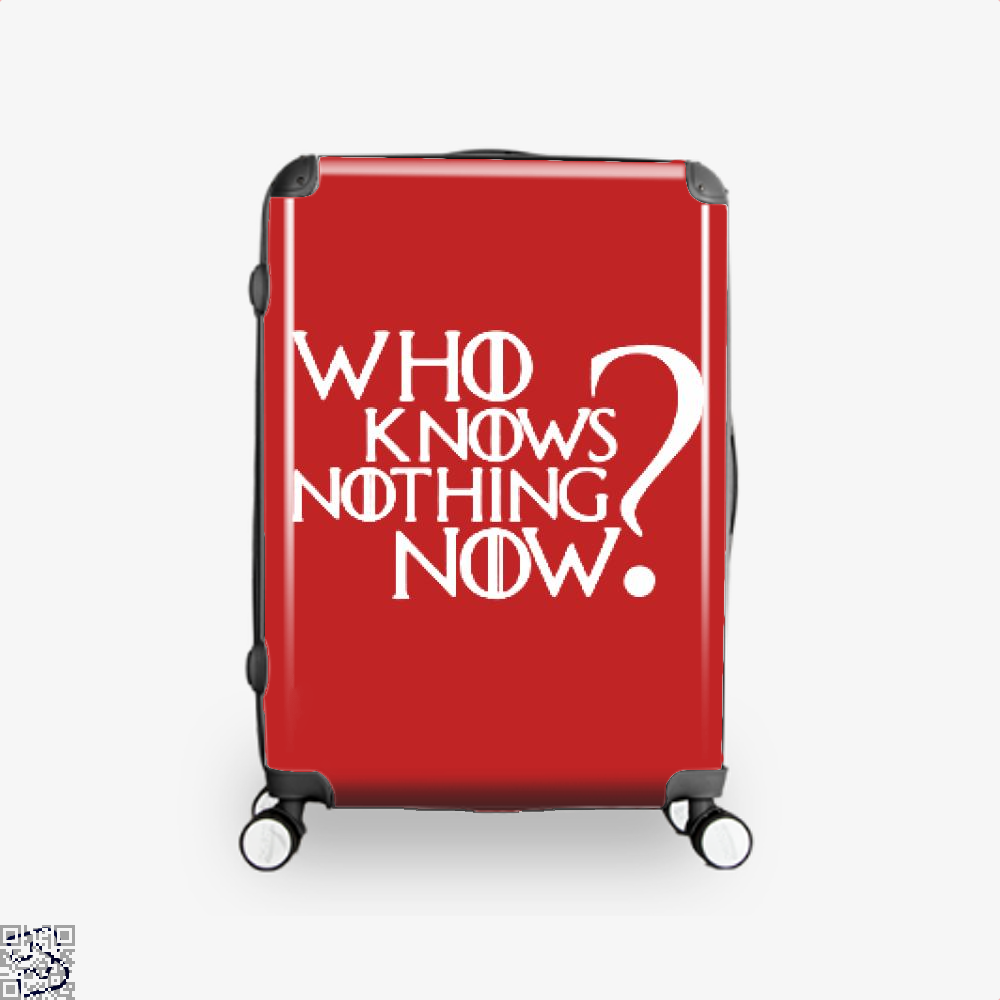 Who Knows Nothing Now Game Of Thrones Suitcase - Red / 16 - Productgenjpg