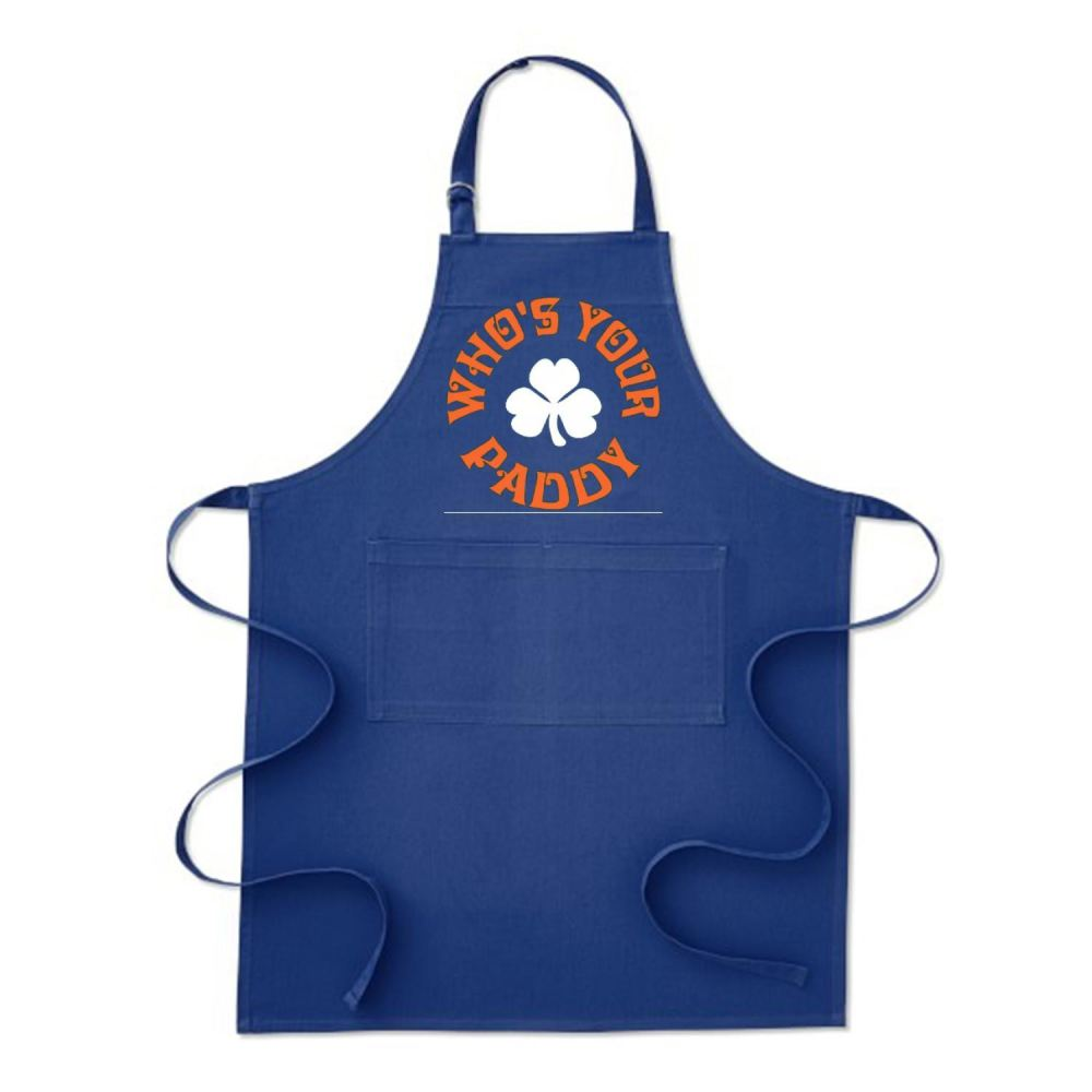Whos Your Paddy V2 Irish Clover Apron - Blue / Polyster - Productgenjpg