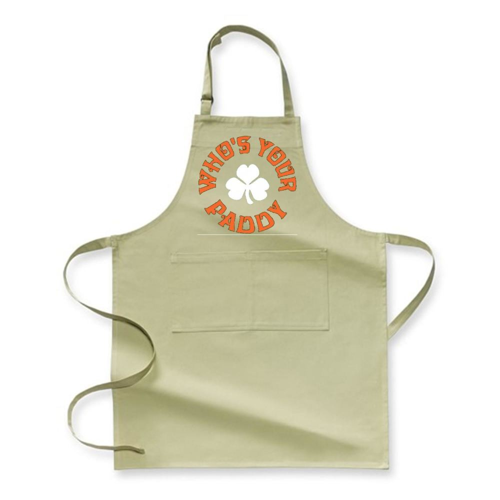 Whos Your Paddy V2 Irish Clover Apron - Green / Polyster - Productgenjpg